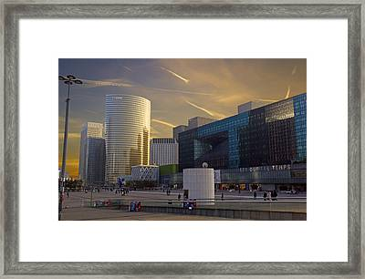Framed Print featuring the photograph La Defense by Rod Jones