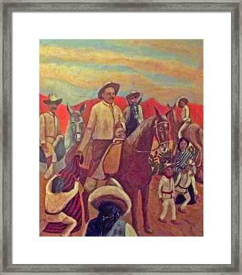 La Fiesta De San Martin De Caballo Framed Print by James R Sanchez