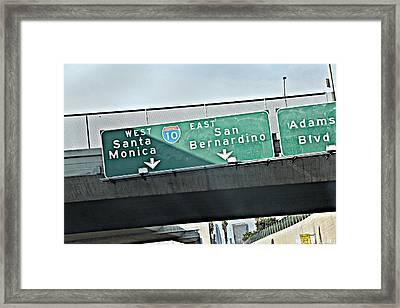 La Freeway Framed Print by D Wash