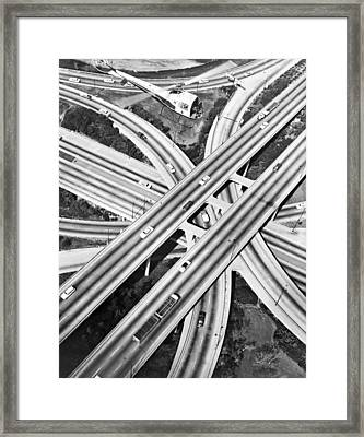 La Freeway Interchange Framed Print