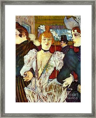 La Goule Arriving At Moulin Rouge Framed Print by Pg Reproductions