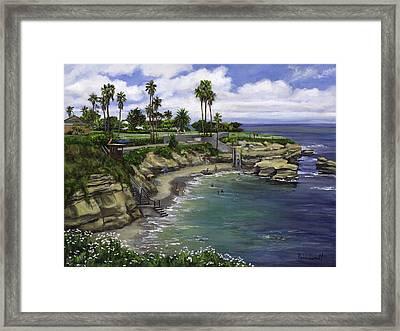 La Jolla Cove 2 Framed Print by Lisa Reinhardt
