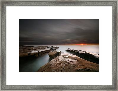 La Jolla Reef Sunset Framed Print by Larry Marshall