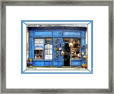 La Maison Bleue.rousillon Framed Print