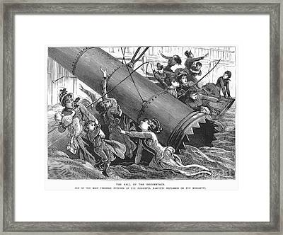 La Mascotte Disaster, 1886 Framed Print