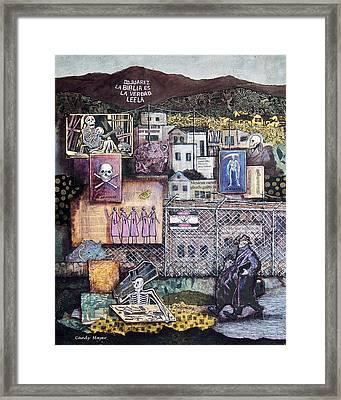 La Muerte En Juarez Death In Juarez Framed Print by Candy Mayer