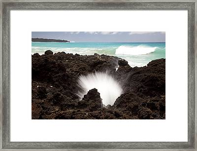 La Perouse Bay Blowhole Framed Print by Jenna Szerlag
