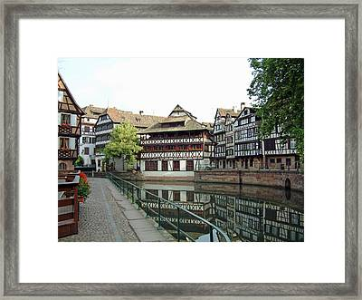 Framed Print featuring the photograph La Petite France Strasbourg France by Joseph Hendrix