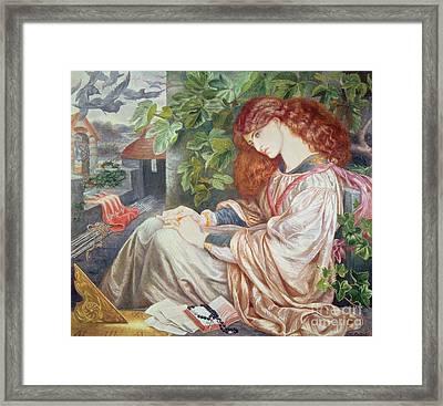 La Pia De Tolomei Framed Print by Dante Charles Gabriel Rossetti