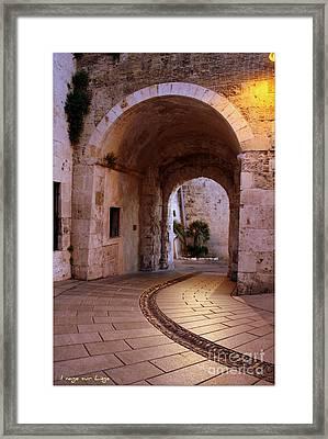 Framed Print featuring the photograph La Porta Dei Leoni Cagliari by Mariana Costa Weldon