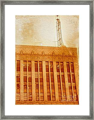 Framed Print featuring the painting La Radio Tower by Gregory Dyer