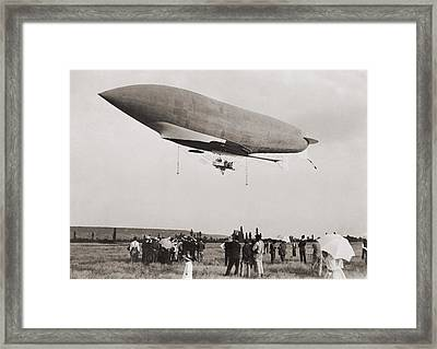 La Republique A Semi-rigid Airship Framed Print by Everett