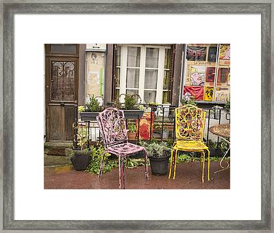 Framed Print featuring the photograph La Roche Guyon by Hugh Smith