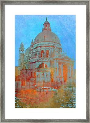 Framed Print featuring the photograph La Salute by Rod Jones