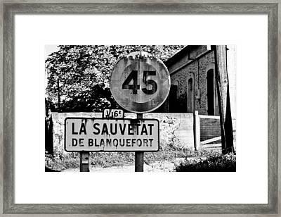 La Sauvetat Framed Print