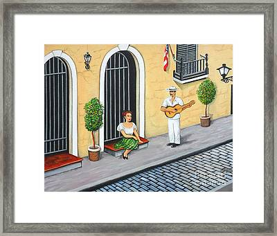 La Serenata Framed Print