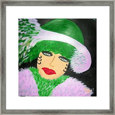 La Shai At The Races Framed Print