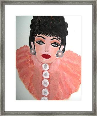 La Shai In Pink Cape Framed Print by Marie Bulger