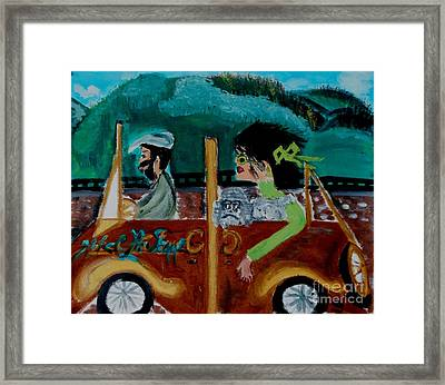 La Shai-on The Road Again-i Will Kill That Hotel Manager When I Get There Framed Print by Marie Bulger