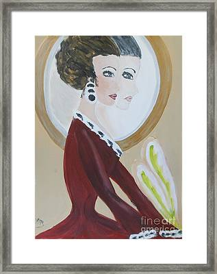 La Shai's 30th Birthday Portrait Framed Print by Marie Bulger