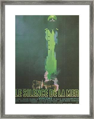 La Silence De La Mer Framed Print by Georgia Fowler