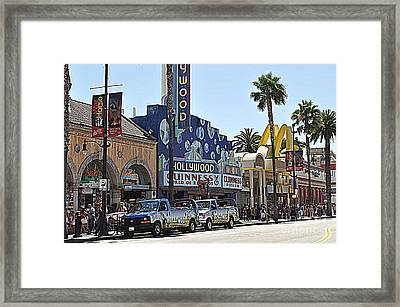 La Street Framed Print by Nicky Dou