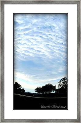 Framed Print featuring the photograph La Terre Est Ronde by Danielle  Parent
