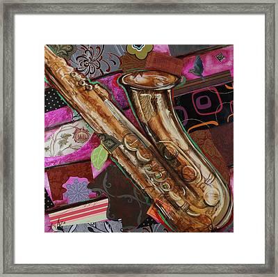 La The Sax Framed Print