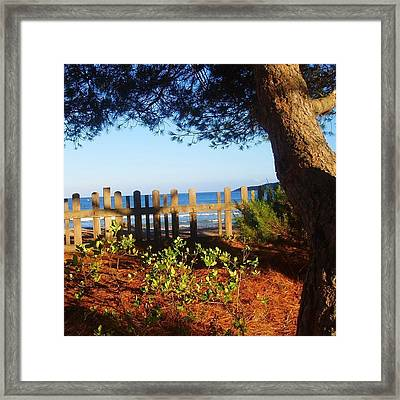 La Valla Del Mar Framed Print by Eire Cela