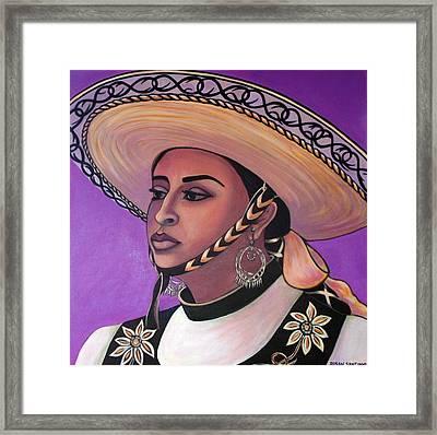 La Vaquera Framed Print