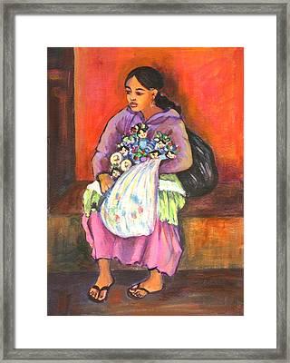 La Vendedora Framed Print