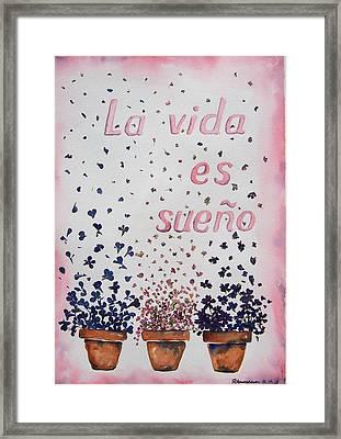 La Vida Es Sueno Framed Print by Regina Ammerman