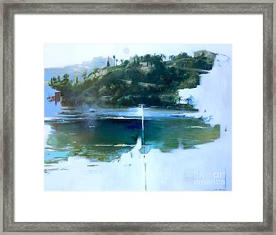 La Villefranche Franche Framed Print by Lin Petershagen