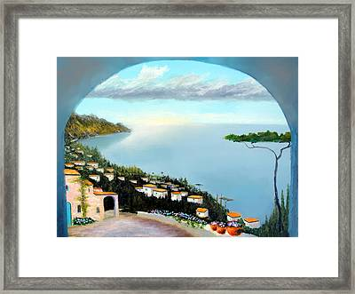 La Vista Del Mare Framed Print by Larry Cirigliano