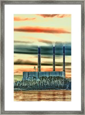 Labadie Power Plant Framed Print by Bill Tiepelman