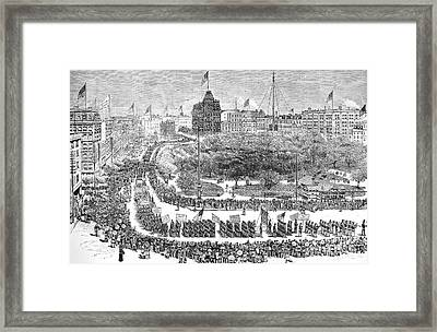 Labor Day Parade, 1882 Framed Print