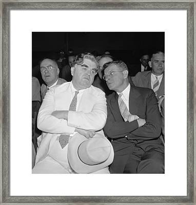 Labor Leaders, John L. Lewis And Sidney Framed Print by Everett