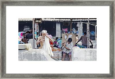 Labour And Sweat Framed Print by Kantilal Patel