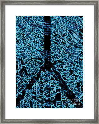 Labyrinth Peace Framed Print by Robert Haigh