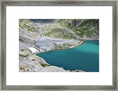 Lac Blanc And Cheserys Lakes Framed Print