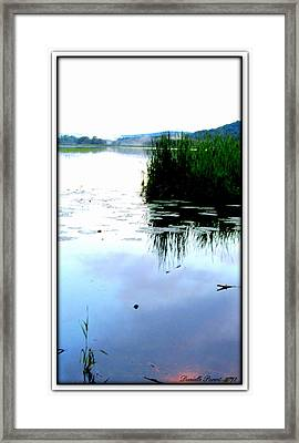 Framed Print featuring the photograph Lac William Quebec by Danielle  Parent