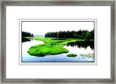 Lac Williams Quebec  Framed Print by Danielle  Parent