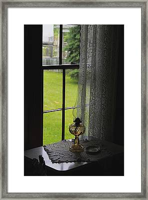 Lace Curtains Framed Print by Scott Hovind