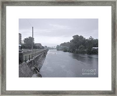 Lachine Canal At Atwater Framed Print