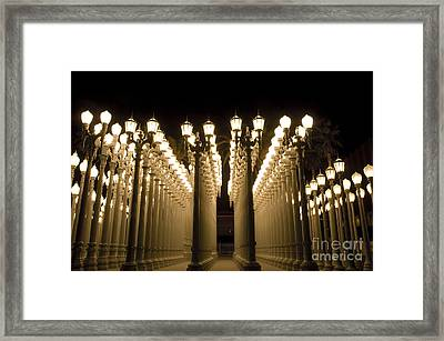Lacma Light Exhibit In La Framed Print