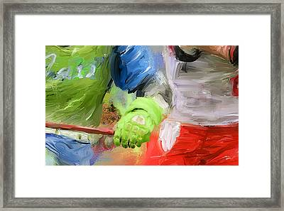 Lacrosse Glove Framed Print by Scott Melby