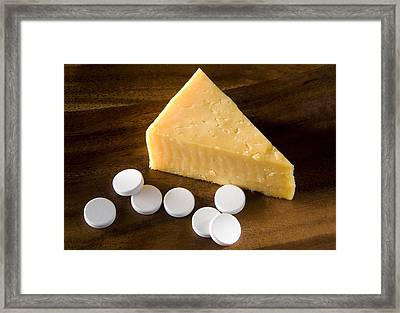 Lactase Enzyme Tablets Framed Print by Sheila Terry