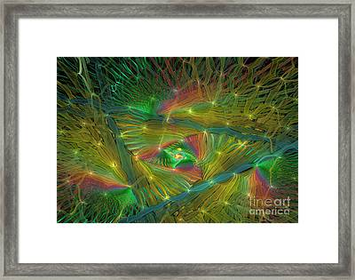 Lacy Rainbow Triangle Framed Print