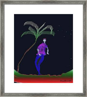 Framed Print featuring the digital art Lad With A Flute by Asok Mukhopadhyay