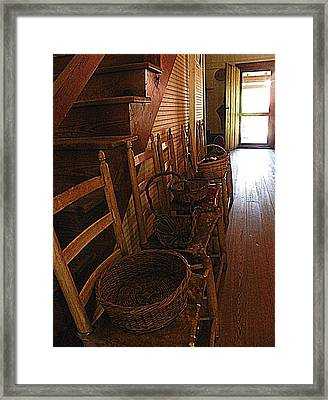 Ladder Backs And Baskets I Framed Print by Sheri McLeroy